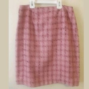 Chadwick's Pink Tweed Pencil Skirt